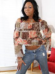 Hot black tgirl with a big shecock!