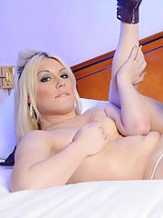 Transsexual sweethearts Ashley amp Chrissy having oral