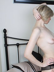 TV slut has orgy with horny blonde and filthy tgirl