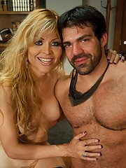 Johanna B. sucks fucks amp cums on a muscly jock who thought he could flirt his way
