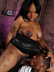 Ebony hottie Lavender getting banged by CJ