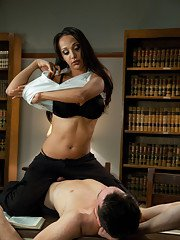 Brand new TS Sunshyne Monroe dominates with her long cock - fucking a police cadet