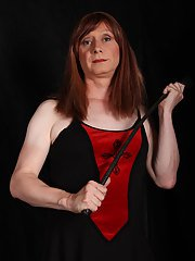 Horny Lucimay loves to give a stern spanking out with her wooden paddle.