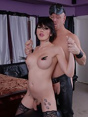 Horny Eva gets mouth and ass fucked