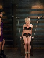 Switch Scene- Ts Joanna Jet in bondage with a hard cock fucking her Doms pussy ass