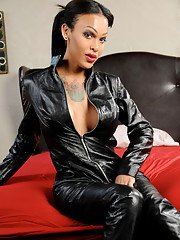 Leather cat suit