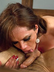 Crazy sex in bound by Latina sensation her thick cock! Her cum mixes with his all