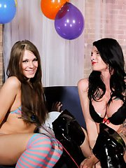 Hot tgirls Ashley  Morgan playing with each other