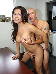 Hot Carmen Moore sucked and fucked at the office