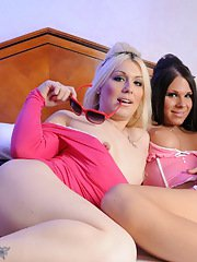 Transsexual sweethearts Ashley  Chrissy having oral