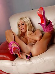 Hot Kimber James toying her asshole  jerking off