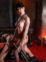 Mistress Danielle plays with a guy