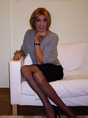 Beautiful crossdressers with natural good looks and tasty bodies simply posing for