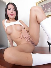 Sweet Ladyboy pussy is exactly what Wan gives us