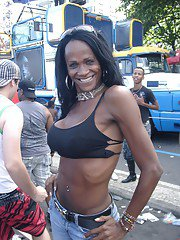 Nikki With The Trannies On The Streets Of Rio de Janeiro