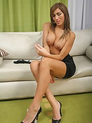 busty Latina Tranny from Argentina showing her tiny winnie