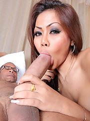 Sweet Asian ladyboy Ola loves to get fucked! Ramon delivers a hardcore pounding on