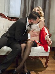 Man Slave Hired to Scrub Tub in Tux while Mistress Tyra Scott Watches. When she gets
