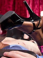 Natassia Dreams gives lap dance of the century with her hungry cock!