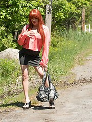 FIERY redhead Kelly Monrock is a gorgeous little Quebec cutie with it going ON! In