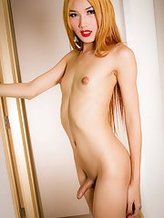 Wow - Fossy is a stunning fresh tgirl with an amazing body budding hormone tits a