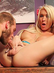 Sexy horny Aubrey Kate returns for another smoking hardcore scene! This horny tgirl