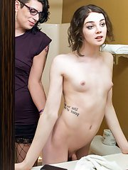 Chryssie Steele is watching Sasha Skyes in the mirror and she likes what she sees.