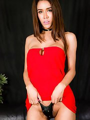 Angel is a stunning ladyboy with an amazing face sexy slim body with big tits a nice