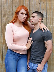 Gorgeous Ts teen Aspen Brooks is at a loss for words when she see how hot Vadim Black