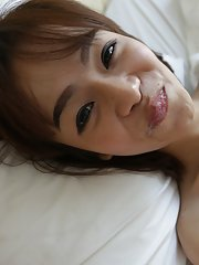 Small-tittied 19 yr old Thai Ladyboy gives a hot blowjob to white tourist