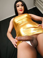 Fanta is a pretty tgirl with a hot curvy body big tits and a big round ass to go