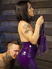Welcome to TS Foxxys Dungeon where submissive pain slave Ruckus is ready to serve!