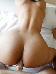Threesome with two shy Thai ladyboys and tourist and shemales get a facial