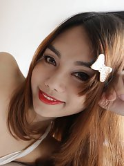22 year old Thai ladyboy gets made up for her date and a facial from her tourist