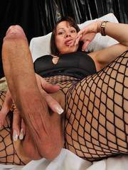 With her big cock she hardly fuck her guy...