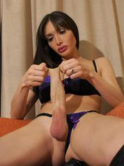 Well Hung shemale MARIANA in Fuck me Boots and an Erection