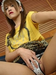 TS Nessy Wanky while Anal Toying