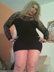Tranny BBW spreading her legs and showing her MASSIVE ASS